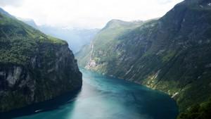 Helikoptertur over Geirangerfjorden