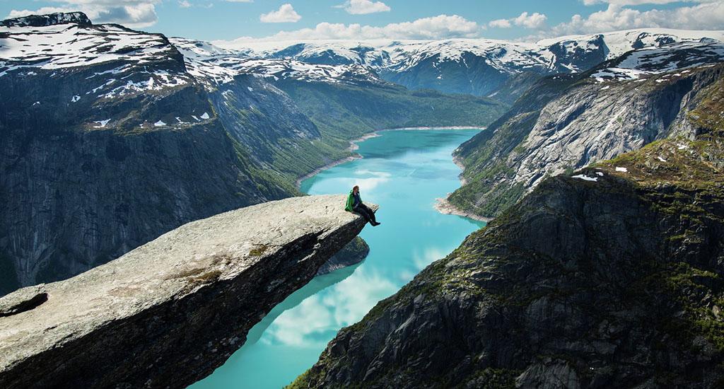 trolltunga norwegen wandern