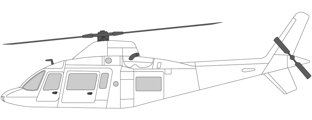 Agusta 109 Helikopter to motorer VIP transport