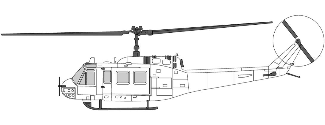 Helikopter for tunge løft Bell205