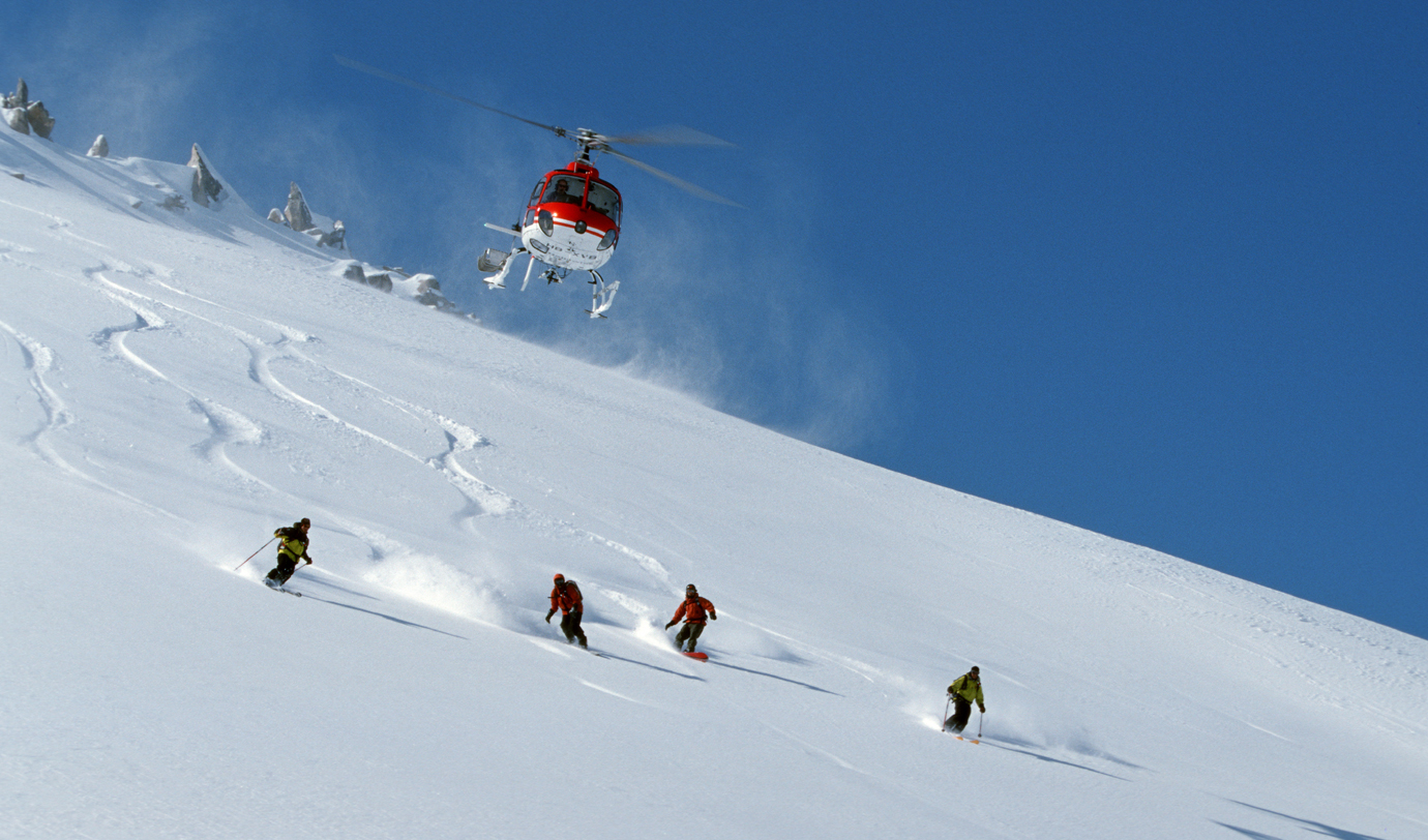 We can arrange Heliskiing tours in many contries
