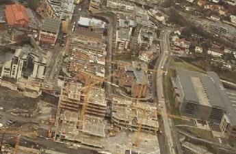 Flyfoto fra Helikopter er best på dokumentasjon av byggeprosjekter