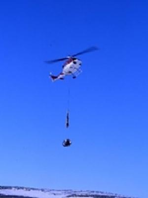 Helikopter Transport Lasteflyging med Longline