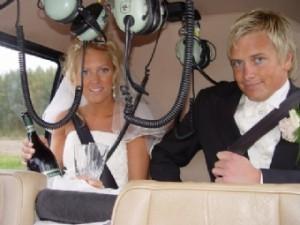 Helikopter leie og transport til Bryllups festen