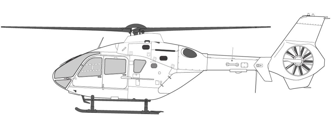 Helikoptre i Norge EC135 to-motors