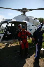 Tandem Skydive from Helicopter in Norway Getting Ready