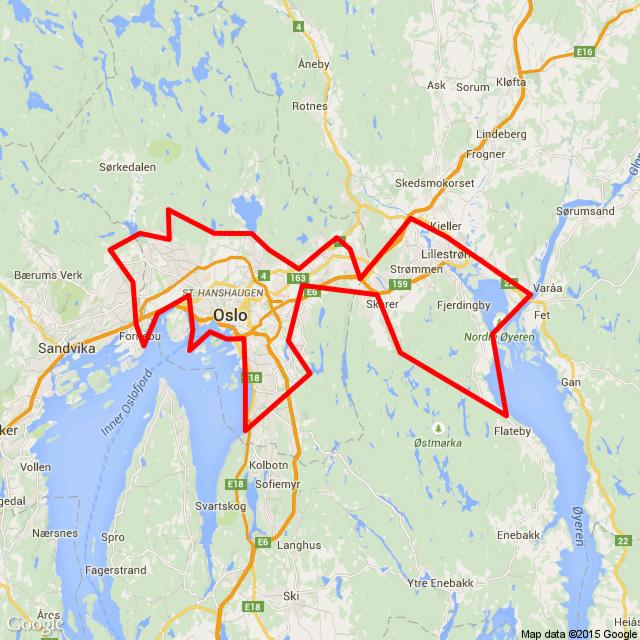 Helikoptertur Oslo og Østmarka