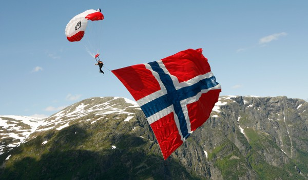 Fly Helicopter See Norway from above