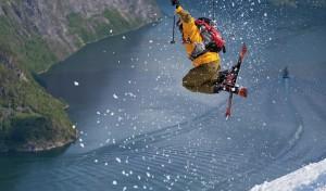 Helikopter topturer Sunnmørsalpene Geirangerfjord