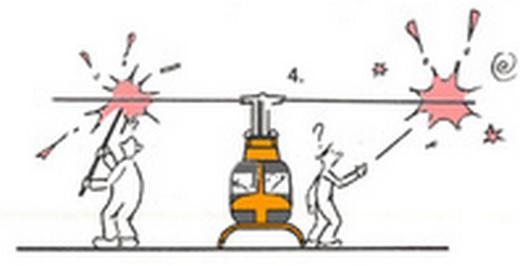 Helikoptersikkerhet, gjenstander rundt helikopteret
