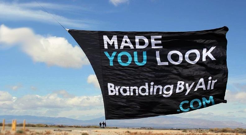Helikopter Banner Reklame Eksponering
