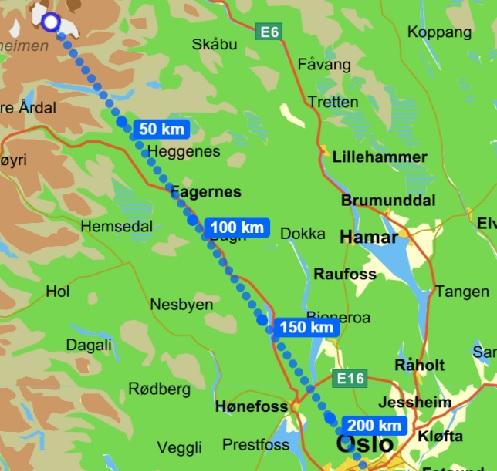 Helikopter leie Oslo Lom fint Vær