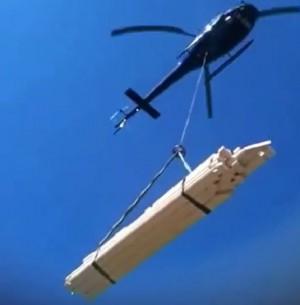 Helikopter Transport Hytte Lasteflyging
