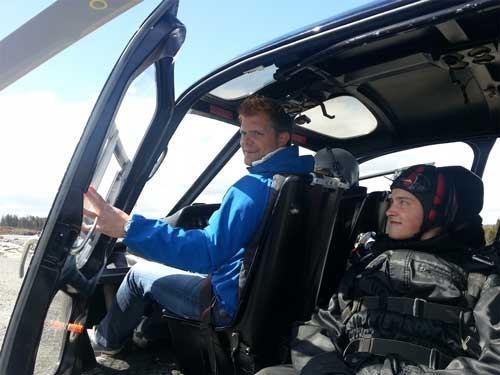 Tandemhopp Passasjersete i helikopteret