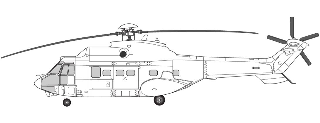 Helikoptre i Norge Super Puma