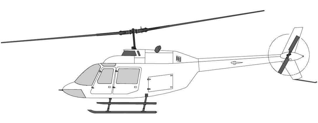 Helikoptre i Norge Bell 206