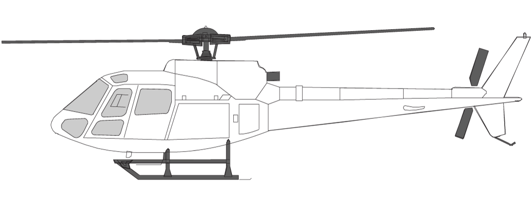 Helicopter types in Norway AS350 Squirrel