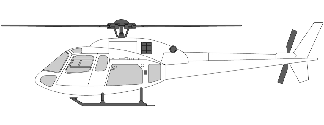 Helicopter types in Norway AS355 Twin Engine