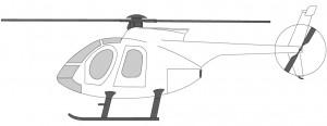 Helikoptre i Norge MD369 Hughes 500