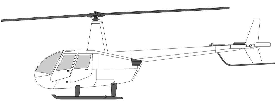 Helicopters in Norway Robinson R44