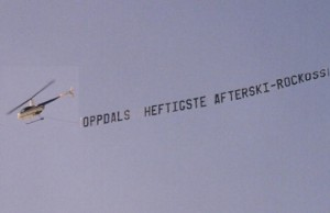 Helicopter Advertising in Norway Banner Towing