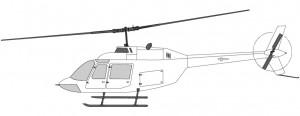 Helikoptertyper i Norge Bell 206 sightseeing
