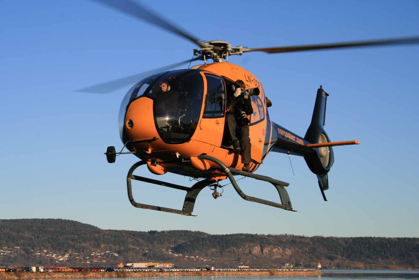 Helicopter EC120 Colibri is the perfect tool for Aerial pictures and film in Norway