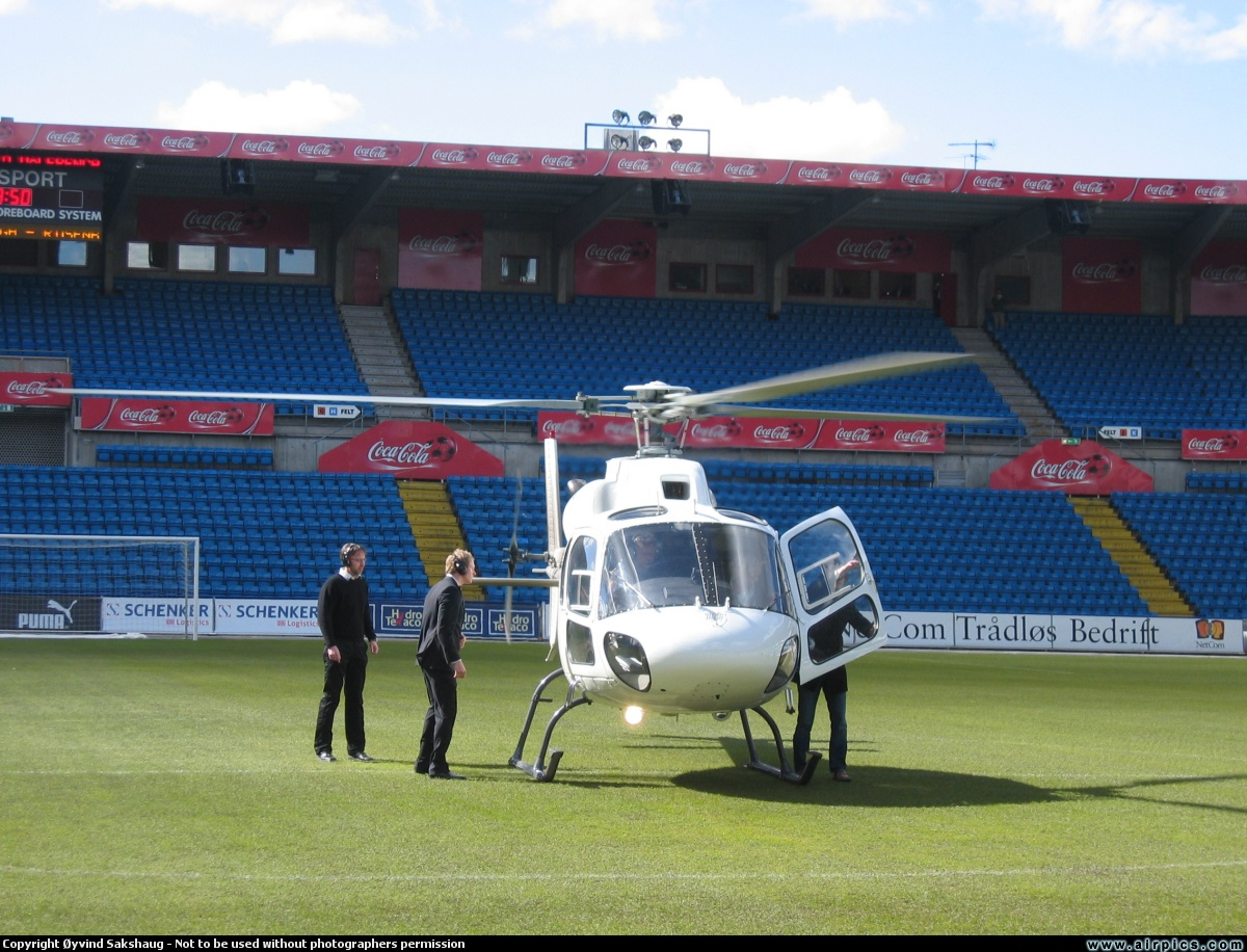Helicopter Charter from Oslo Norway Ullevål Stadium