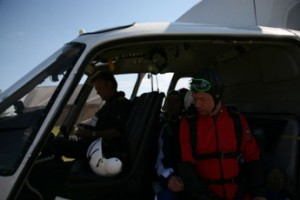 Tandem Skydivers in AS355 Twin Engine Helicopter in Norway