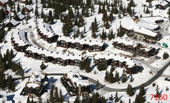 Aerial Photoes from Helicopter Winter Cabins Hafjell Norway 7160
