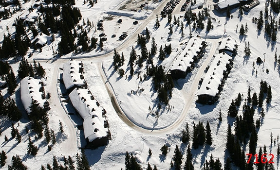 Aerial Photoes from Helicopter Winter Cabins Hafjell Norway 7162