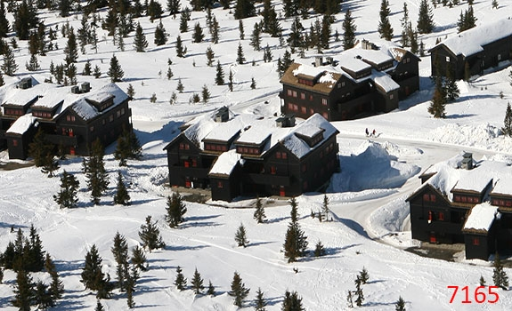 Aerial Photoes from Helicopter Winter Cabins Hafjell Norway 7165
