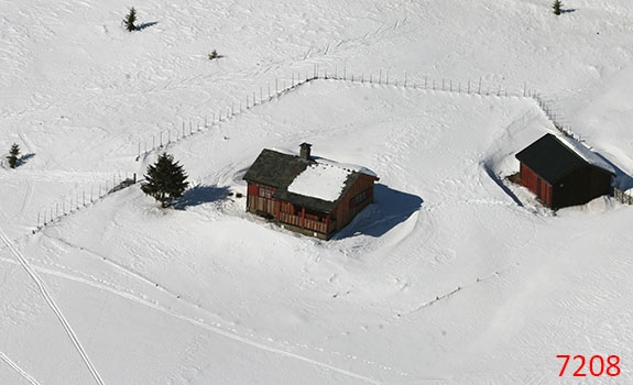 Aerial Photoes from Helicopter Winter Cabins Hafjell Norway 7208