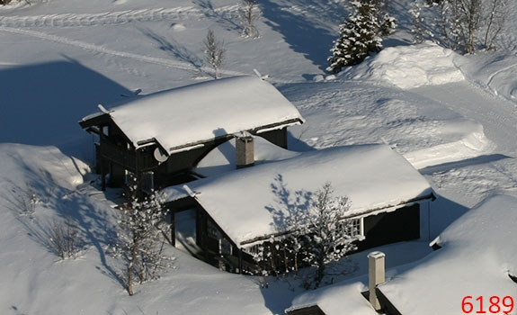 Aerial Photoes Winter Cabins Gaustablikk Norway 61