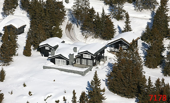 Aerial Photoes Winter Cabins Hafjell Norway 7178