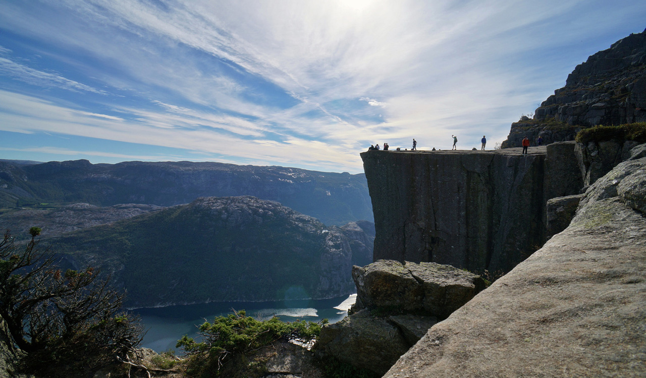 Helicopter Ride to Pulpit Rock Norway