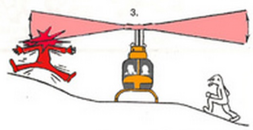 Helicopter Safety - Approaching in sloping terrain