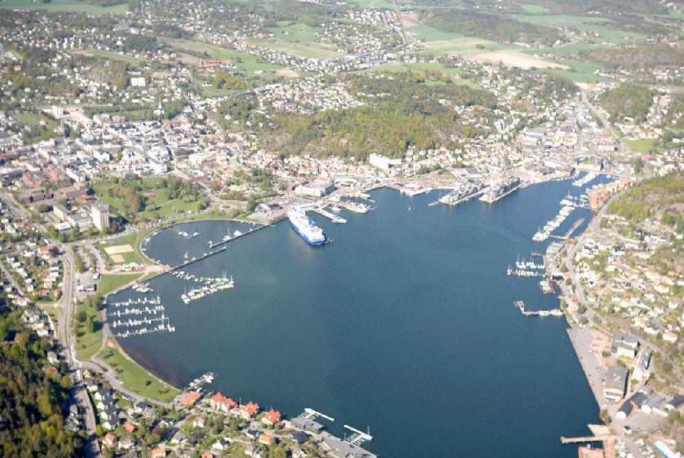 Helikopter turer over Sandefjord