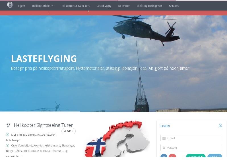 Pris beregning lasteflyging og helikopter transport